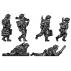 2-inch mortar teams moving and firing