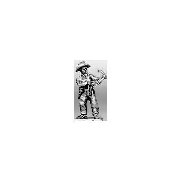 Trooper dismounted, horse holder