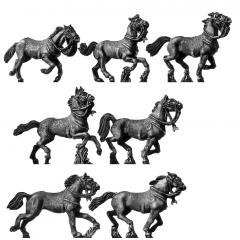 Light cavalry horse, galloping