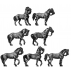 Heavy horse standing