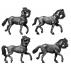 Heavy horse trotting