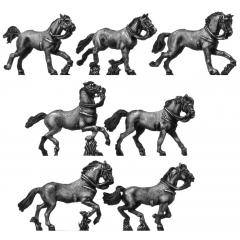 Heavy cavalry horse, galloping
