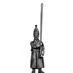 Pavlov Grenadier standard bearer in greatcoat