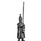 Pavlov Grenadier standard bearer in greatcoat