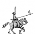 Hussar, front rank with lance, charging
