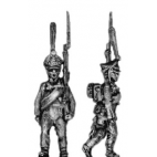 Guard infantry, shako, march-attack