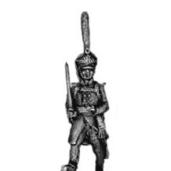 Guard infantry officer, shako