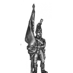 Ensign, standing, cast flag