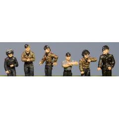SS Panzer crew, hatch figures