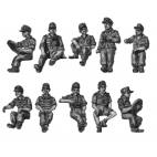 Seated figures for softskin and halftracks