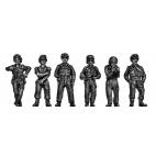 Crew in battledress and helmets