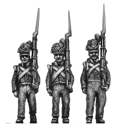 Belgian Line Infantry, flank company, marching