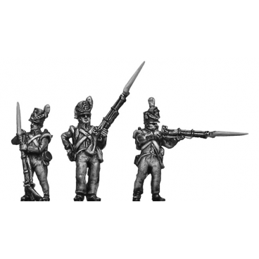 Belgian Line Infantry, flank company, firing and loading