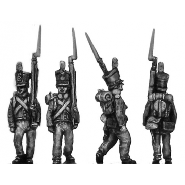 Dutch Line Infantry, centre company, marching