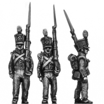 Dutch Line Infantry, flank company, marching