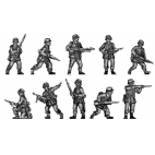 Infantry section advancing cautiously
