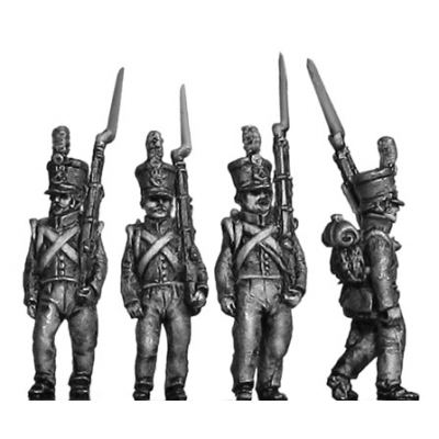 Chasseur / Jaeger, flank, marching