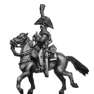 Dutch Carabinier trumpeter, in bicorne