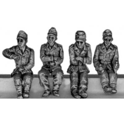 German Kubelwagen crew in caps