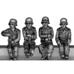 German Kubelwagen crew in helmets