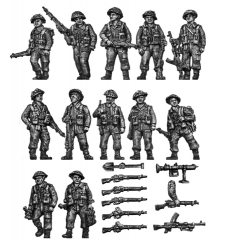 Infantry squad walking