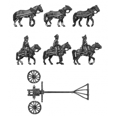 Foot artillery light limber team