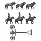 Horse artillery light limber team