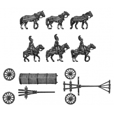 Horse artillery large caisson team
