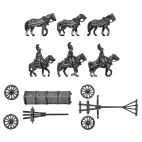 Horse artillery large caisson team