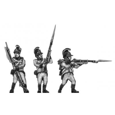 German fusilier, helmet, firing and loading