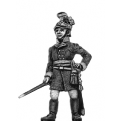 German fusilier officer, helmet, standing
