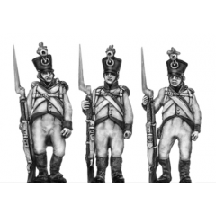 German fusilier, shako, order arms
