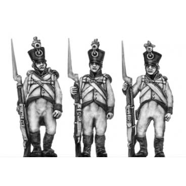 German fusilier, shako, order arms