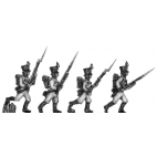 German fusilier, shako, advancing, porte arms