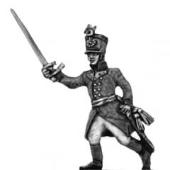 German fusilier officer, shako, advancing