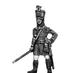 German fusilier officer, shako, standing