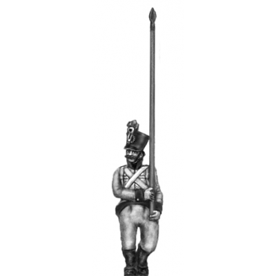 German fusilier standard bearer, shako