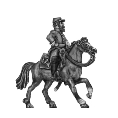 Mounted Officer in cap