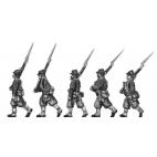 Zouave marching in kepi