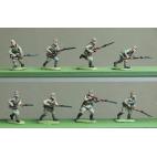 Caps, rifles advancing