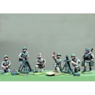 82mm mortar set ( 2 mortars, 6 crew, ammo boxes )