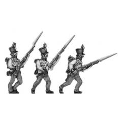 Hungarian fusilier, shako, advancing
