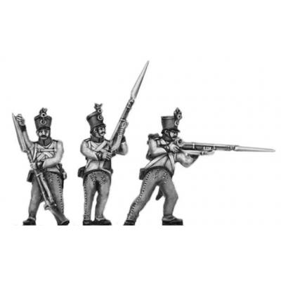 Hungarian fusilier, shako, firing and loading