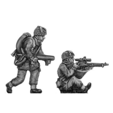 Airborne sniper and flamethrower