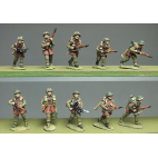 Infantry section, jerkins, advancing