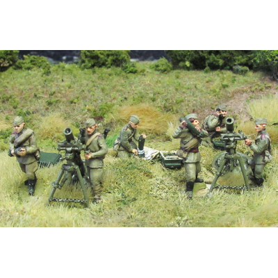 120mm Mortars and crew