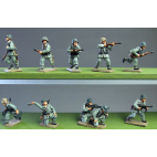 Infantry section advancing and skirmishing