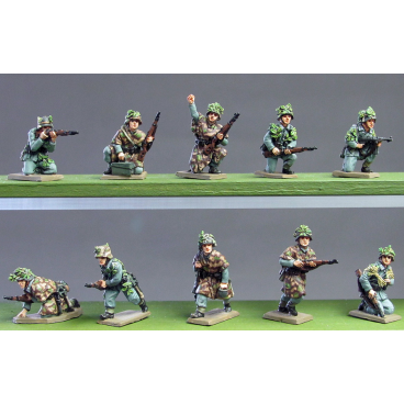 Infantry section wearing camouflage