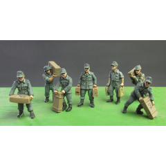 Germans loading boxes