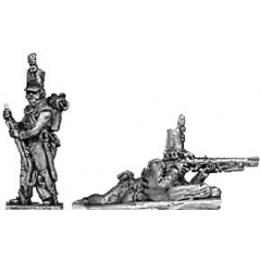 Cacadores skirmishing with rifles